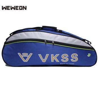 3-6 piezas impermeable bádminton raqueta bolsa de Nylon grandes bolsas de tenis bádminton mochila para zapato doble bolsa principal raqueta de