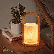 Desk Lamp Modern Simple Wood Craft Table Lamp Bedroom Decoration Bedside Lamp  Book Light Table Lamps
