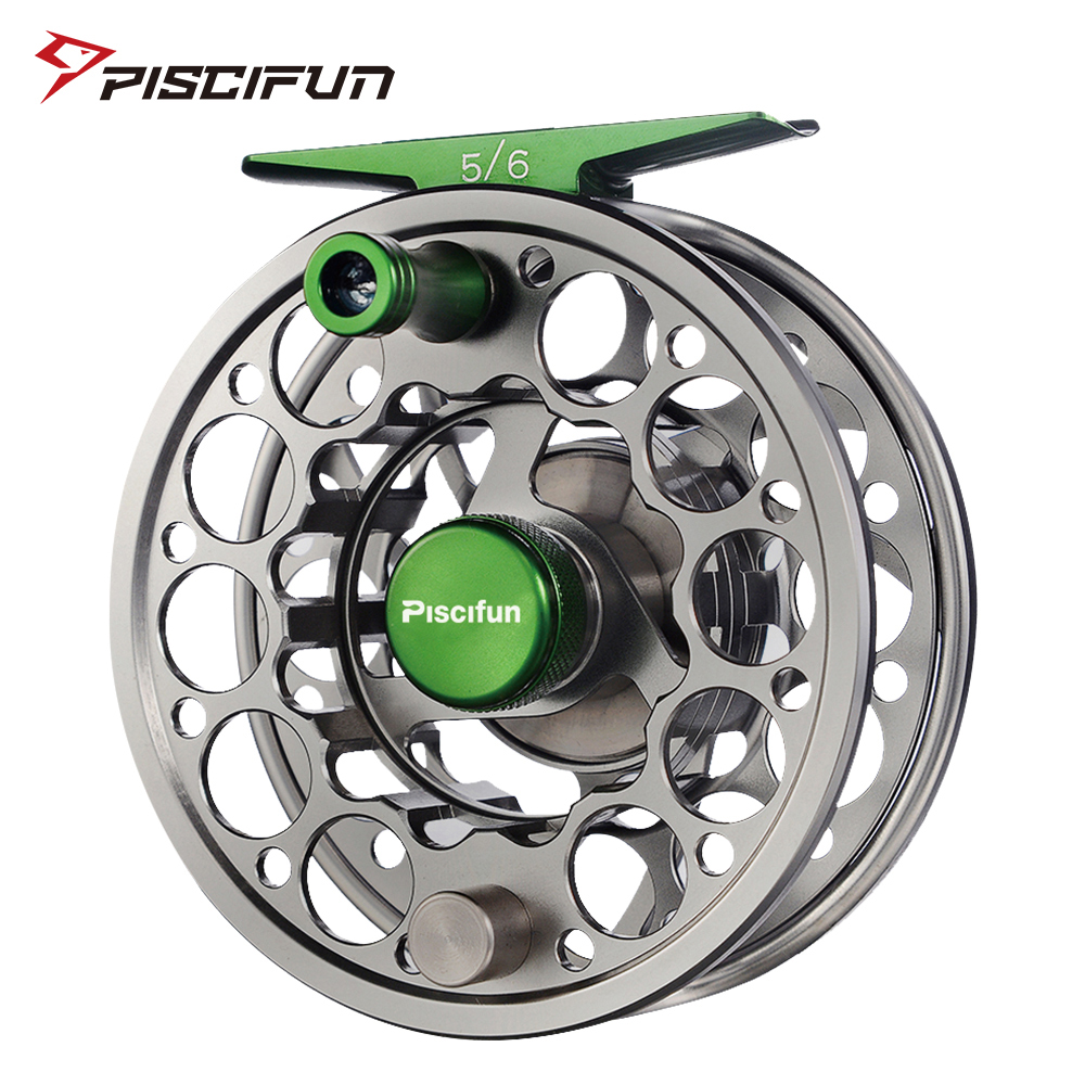 Piscifun Sword Fly Reel with CNC-machined Aluminium Material 3/4/5/6/7/8/9/10 WT Right Left Handed Fly Fishing Reel Gunmetal title=