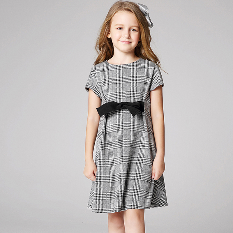 SPSHOW Children's clothing dress 2018 spring and autumn children in Europe and the United States short-sleeved princess dres 2017 spring and summer fashion girls clothing europe and the united states wind dress long sleeved lace princess peng peng dress