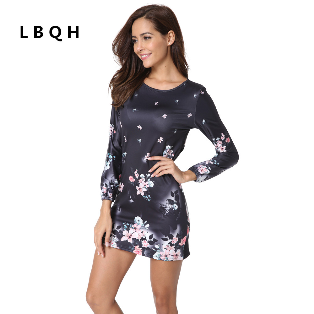 LBQH Autumn and winter new ladies fashion sexy long-sleeved brand dress high-quality knitted elastic fabric printed women dress fashion printed skullies high quality autumn and winter printed beanie hats for men brand designer hats