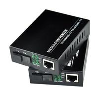 1 Dubbele 10/100M Fast Ethernet Media Converter, 1 RJ45 1 Sfp 25Km Simplex Mode Glasvezel Transceiver