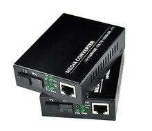 1 çift 10/100M hızlı Ethernet medya dönüştürücü, 1 RJ45 1 SFP 25KM Simplex modu fiber optik alıcı verici
