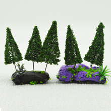 50PCS 10CM Model Train Layout Architetcural Wire Tree Miniature Scale Tower Pine