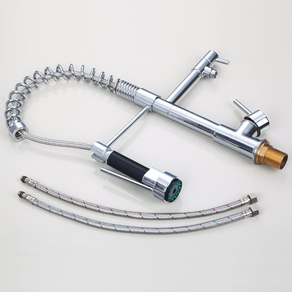 encastr/é de type chaud et froid Robinet mitigeur de cuisine en acier inoxydable 304/Pistolet de piscine rotatif An der Wand mont/é