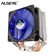 ALSEYE 4 Heatpipes CPU Cooler TDP 160 W 90mm LED CPU Fan Nhôm Tản Nhiệt cho LGA 775/1150 /1151/1155/1156/1366 & FM1/2, AM2 +/3 +