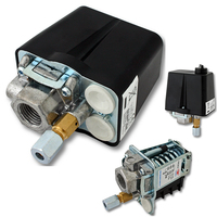 3 Phase 230V 400V 16A Pressure Switch For Compressor Air Compressors Switch Control 90 120 PSI