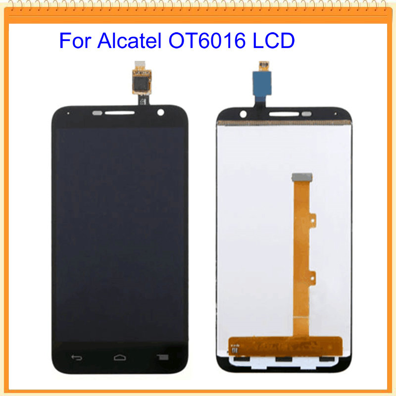 imágenes para 100% nuevo para alcatel one touch idol 2 mini 6016 ot6016 60166016D 6016A 6016E 6016X LCD de Pantalla con Pantalla Táctil Negro blanco