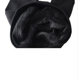 Image 3 - Chrleisure feminino quente veludo leggings outono inverno tamanho grande doces cores grosso falso malha engrossar fino estiramento legging