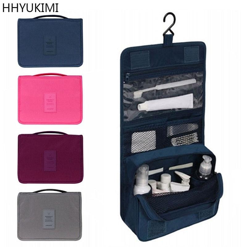 HHYUKIMI Brand Hanging Cosmetic Bag Beauty Makeup Bag Women Travel Portable Cosmetics Organizer Men Bath Waterproof