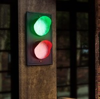 Loft Style Creative Color LED Wall Lamp Fixtures For Indoor Lighting Vintage Traffic Light Wall Sconces