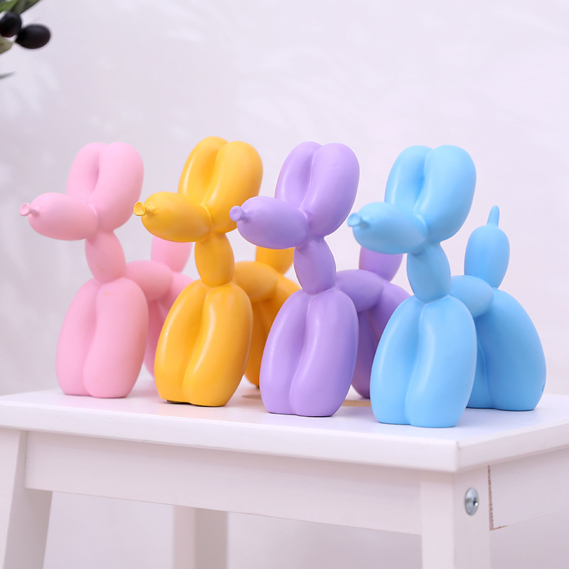 Best Selling Nordic Resin Crafts Balloon Sculpture Dog Modern Minimalist Home Decoration Animal Statue Creative Wedding Gifts