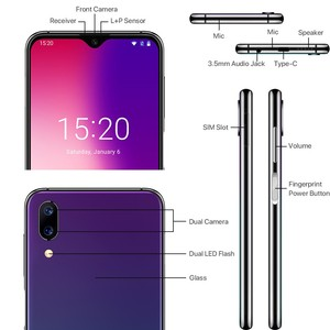 "Image 3 - UMIDIGI One Max Global รุ่น 4GB 128GB 6.3 ""Waterdrop Full Screen 4150mAh Dual SIM Face ID สมาร์ทโฟน NFC Wireless CHARGING"