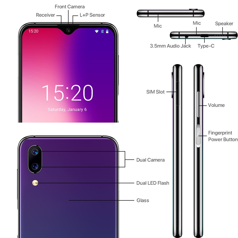 """Image 3 - UMIDIGI One Max Global Version 4GB 128GB 6.3"""" Waterdrop Full Screen 4150mAh Dual SIM Face ID Smartphone NFC Wireless Charging-in Cellphones from Cellphones & Telecommunications"""