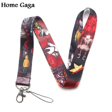 Homegaga Stephen Kings IT DIY keychain lanyard webbing ribbon neck strap fabric id badge phone holders necklace accessory D1247