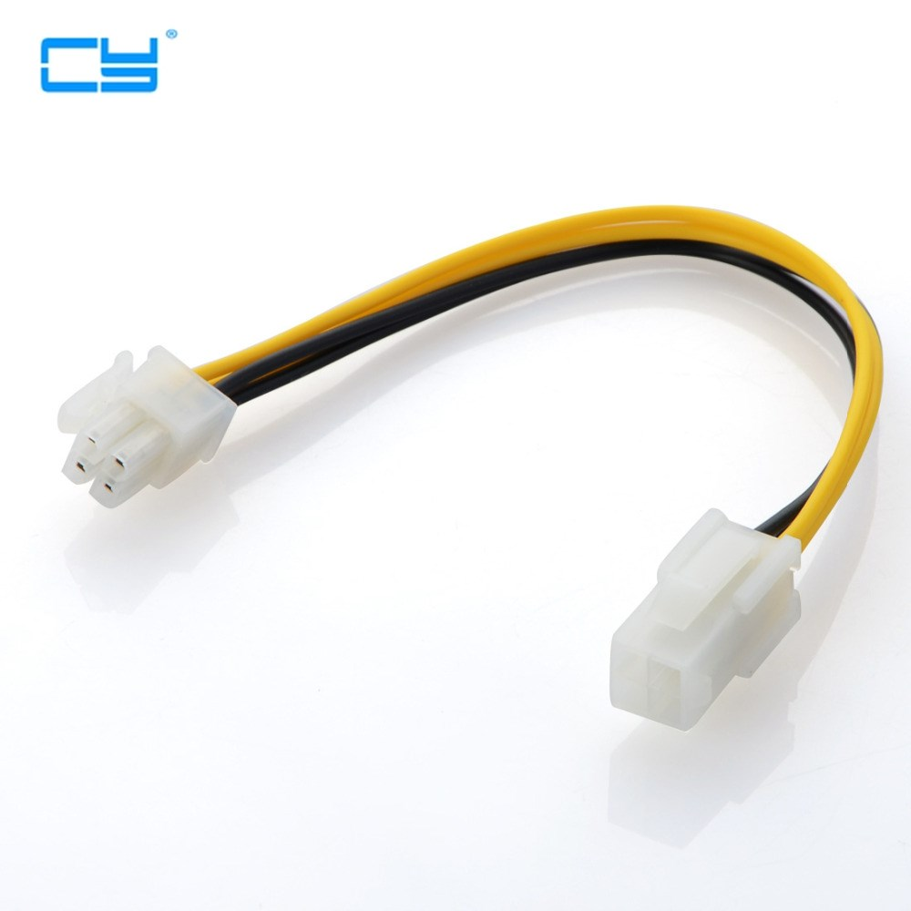 Magideal 5Pcs Cpu Fan Extension Cable 4pin Adapter Cable for ATX Motherboard
