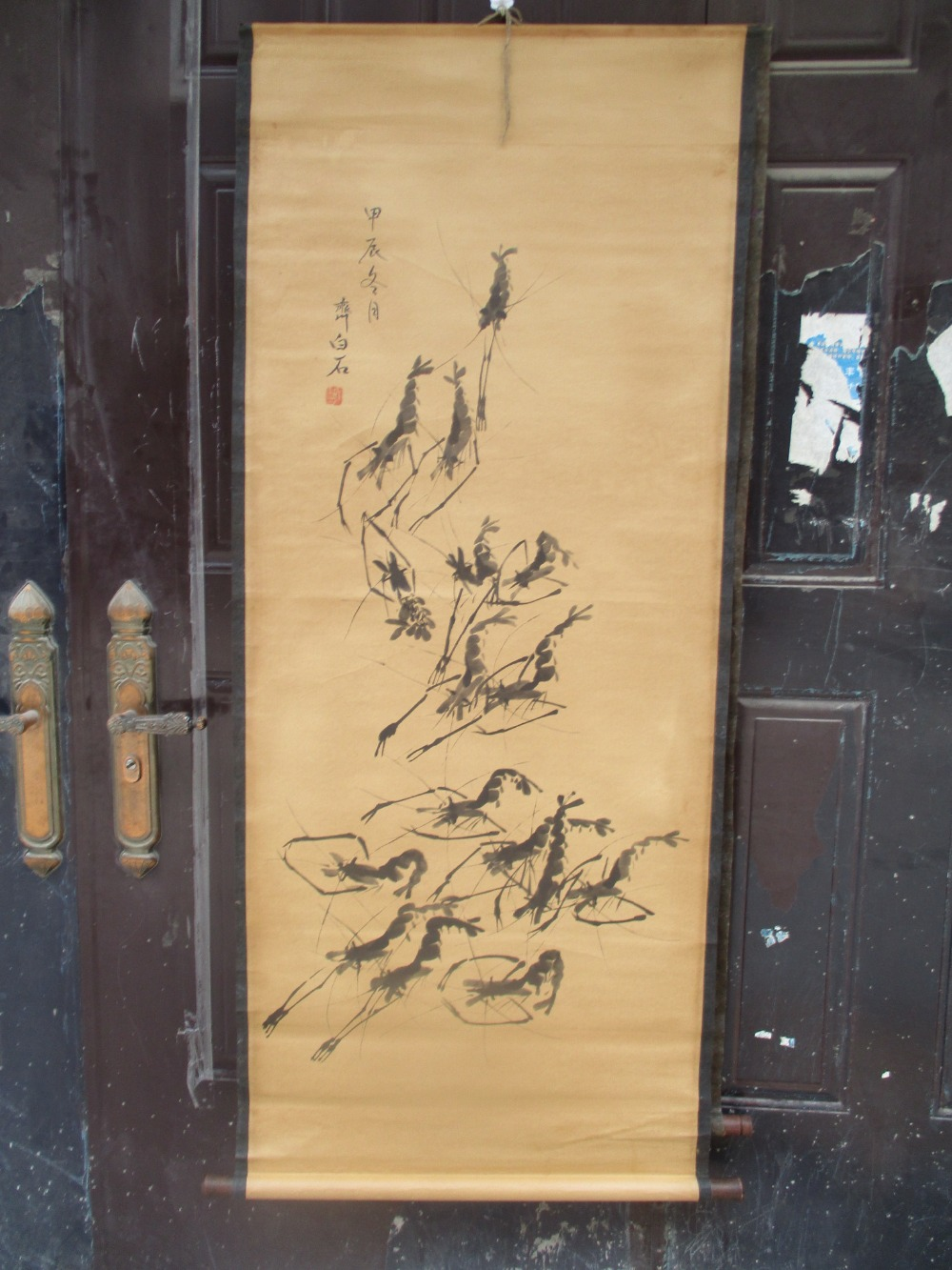 Collection Home wall decoration painting ,Chinese old paper scroll ...