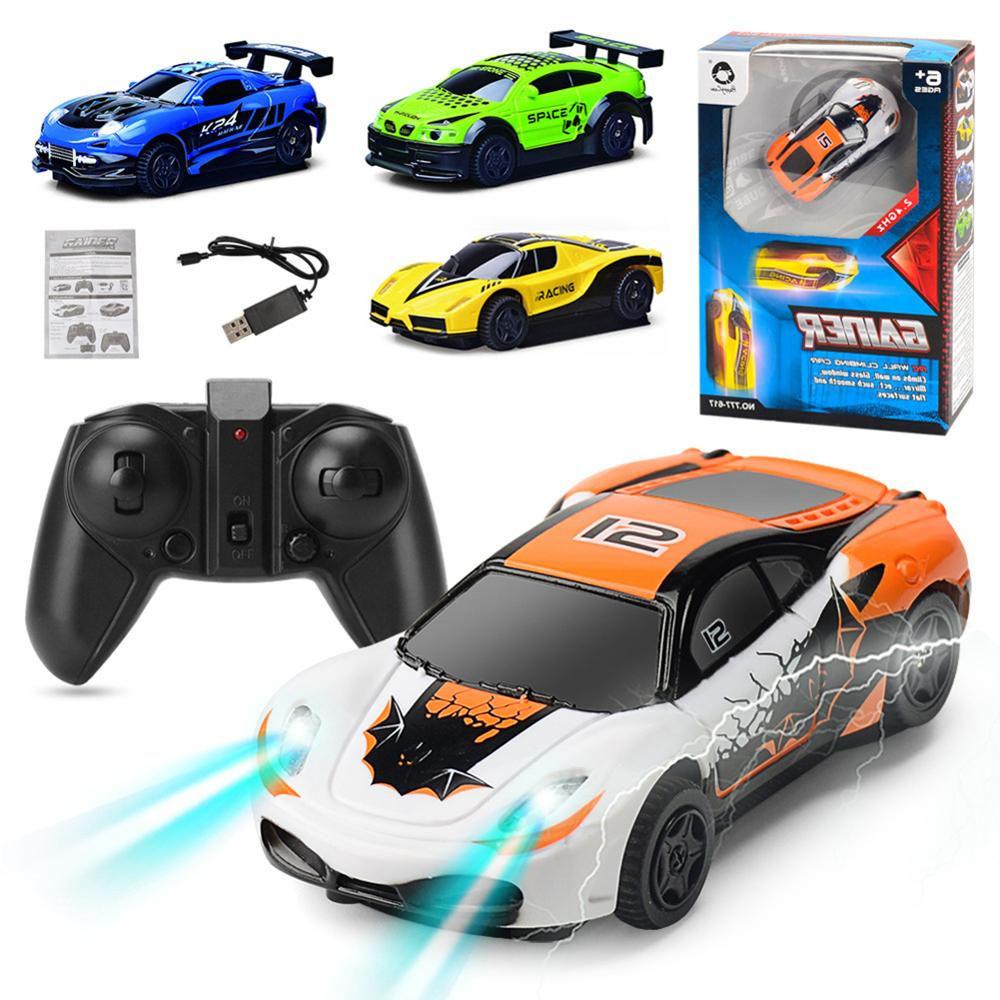 Hot Sales Remote Control Wall Climbing Mini RC Radio Car LED Lighting Antigravity Electronic Toy For Children