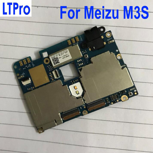 LTPro Original Tested mainboard For Meizu Meilan 3s M3s Mini 16gb motherboard Main board Circuit Fee Electronic Panel Flex Cable