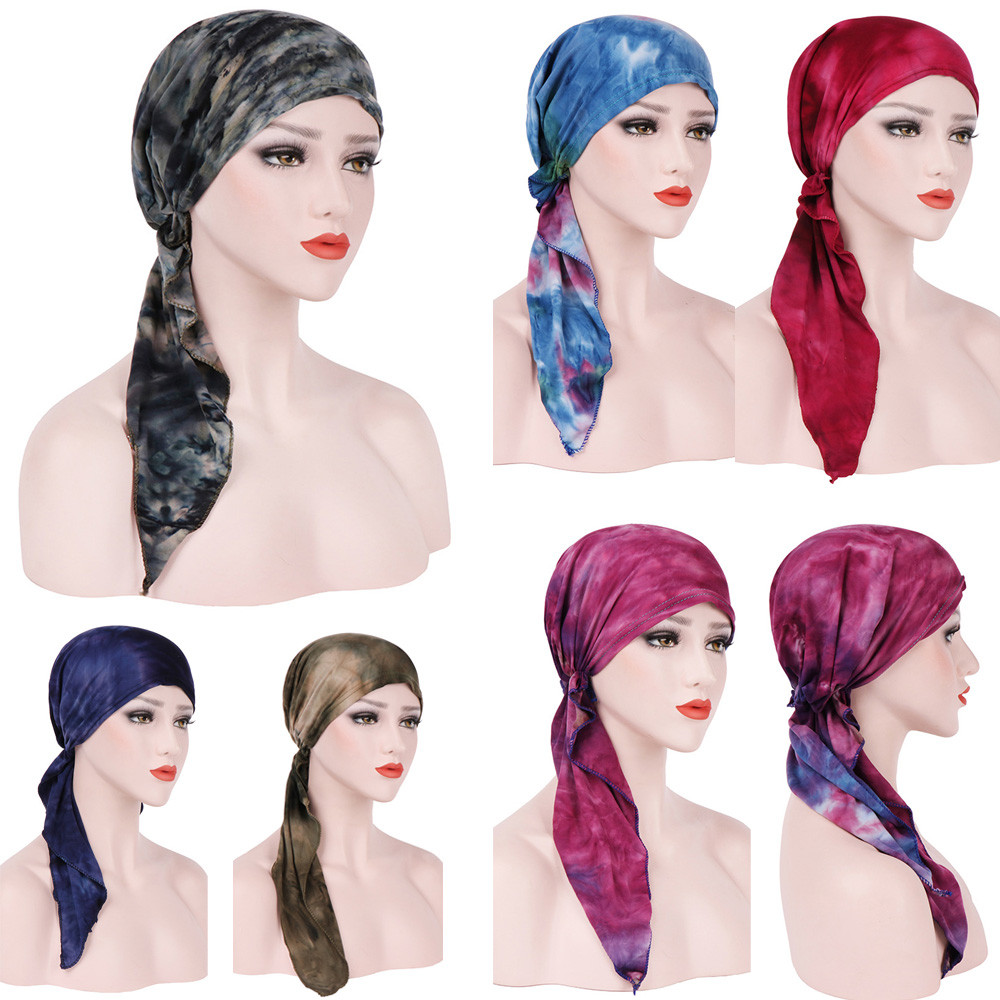 US $2 53 28% OFF|Solid Indian Caps Women Headwrap Vintage Ukraine Flower  Stretch Turban Hat Casquette Chemo Cap Headscarf dropshipping-in Women's