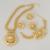 2016 Joyería de la Manera Grande Folwer Colgante Collar Pendientes Pulsera Traje Africano Plateado Oro de Dubai Sistemas de la Joyería de Las Mujeres