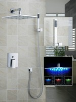 Ouboni Shower Set Torneira LED Light 12 Inch Shower Head Bathroom Rainfall 50210 43C Bath Tub