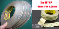 1x 52mm 3M 467MP 200MP Double Sided Sticky Tape for Metal, Rubber, Nameplate Adhesive