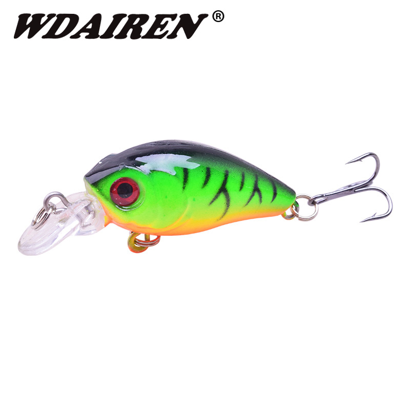 1Pcs Mini Crank Fishing Lures 4.5cm 4g Crankbait Wobblers 3D Fish Eye Artificial Hard Lure Lifelike Fake Lure Fishing Tackle