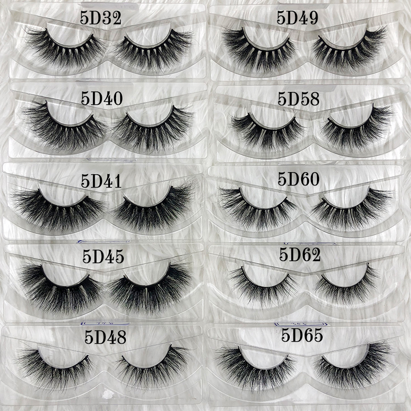 Image 5 - Mikiwi wholesale 50 pairs/pack 3D Mink Lashes No packaging Full Strip Lashes Mink False Eyelashes custom box Makeup eyelashes-in False Eyelashes from Beauty & Health