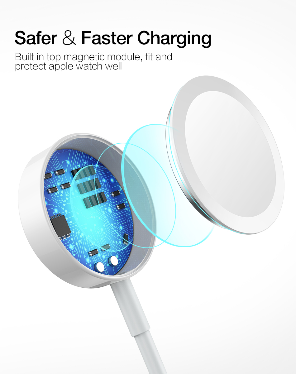 RAXFLY Wireless Charger For Apple Watch 1 2 3 4 38/42/44mm Magnetic Charge Wireless For Apple i Watch Magnetic Charging Stand 9