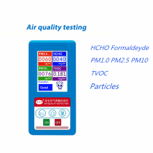 HCHO TVOC PM1.0 PM2.5 PM10 Gas Detector Formaldehyde Gas Analyzer 9kinds of Particles PM 2.5 10 Monitor Air Particles Analyzer pneumatic colloidal particles embedded nailer air staplers 10 5mm colloidal particles cupboard furniture install