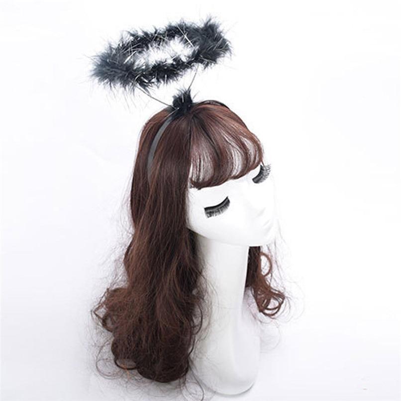 Ladies Halo Angel Black Headband Women Novelty Night Party Fancy Dress Accessory