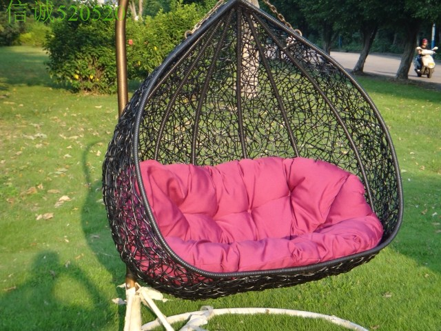 Hanging Chair Double Sling Lounge Rattan Bird Nest Blue Product Details