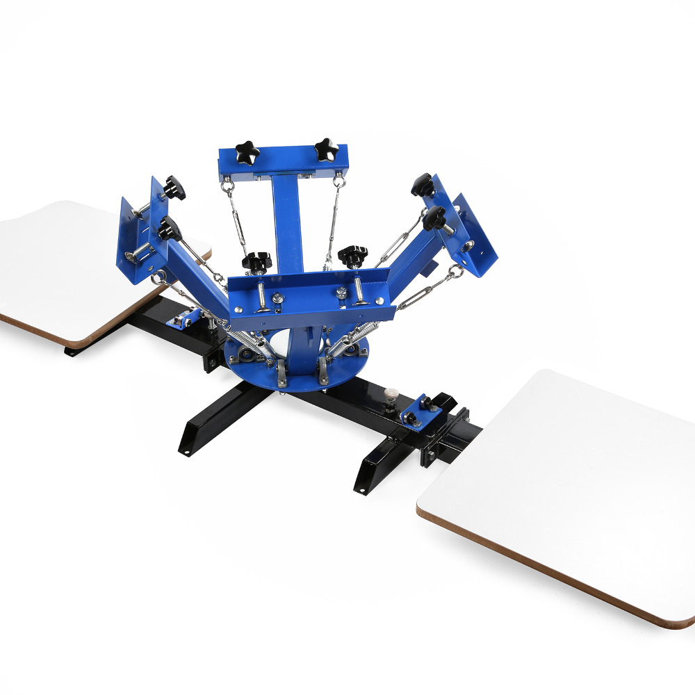 4 Color 2 Station Silk Screening Printing Machine For T-shirt