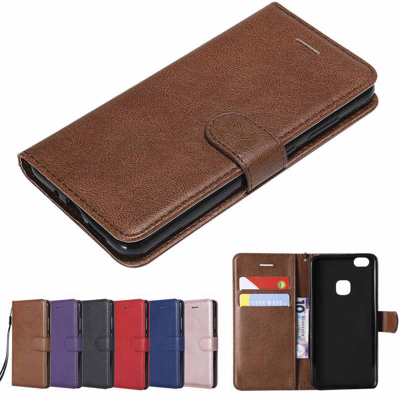 Case Cover For Huawei P10 Lite Luxury Magnetic Flip Wallet Plain Vintage Phone Leather Bags Coqeu For HUAWEI P 10 p10lite Cases