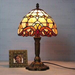 Image 3 - Artpad lampe de bureau, Design européen Vintage, style bohème, ac 110/LED V, décoration de chevet, chambre à coucher, mosaïque, verre ou mosaïque, ac 220V