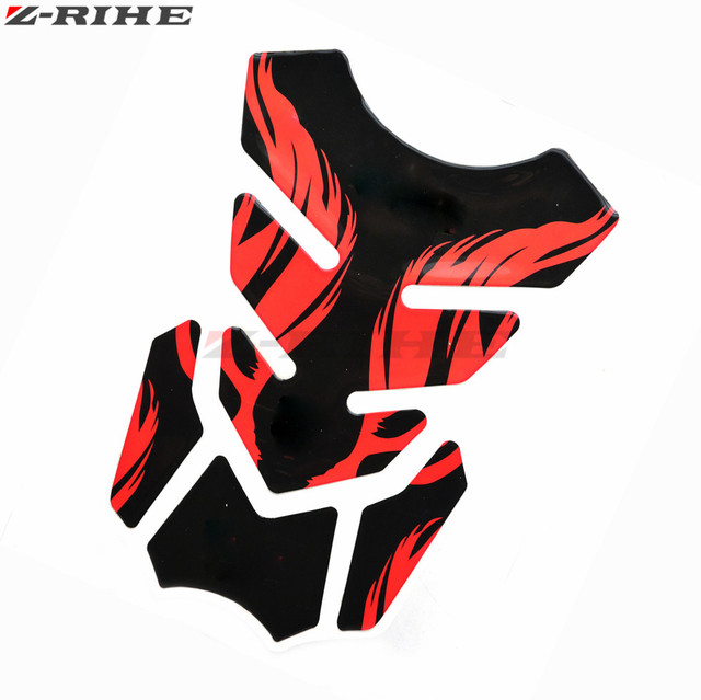 logo 3d motorcycle decal gas oil fuel tank pad protector skull