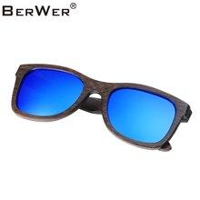 BerWer Classic Sunglasses Women Retro Brown bamboo Frame Unisex Eyewear Male Sun Glasses for Men Oculos Gafas