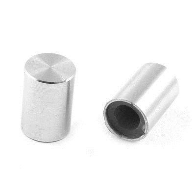 цена на 5 Pcs 10mm x 14mm Aluminum Rotary Potentiometer Knobs Silver Tone