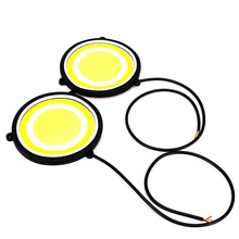 ITimo Car Styling COB LED Lamp Flexible DRL Round Shape Universal Daytime Running Light Car Driving lamp Turn Signals A Pair