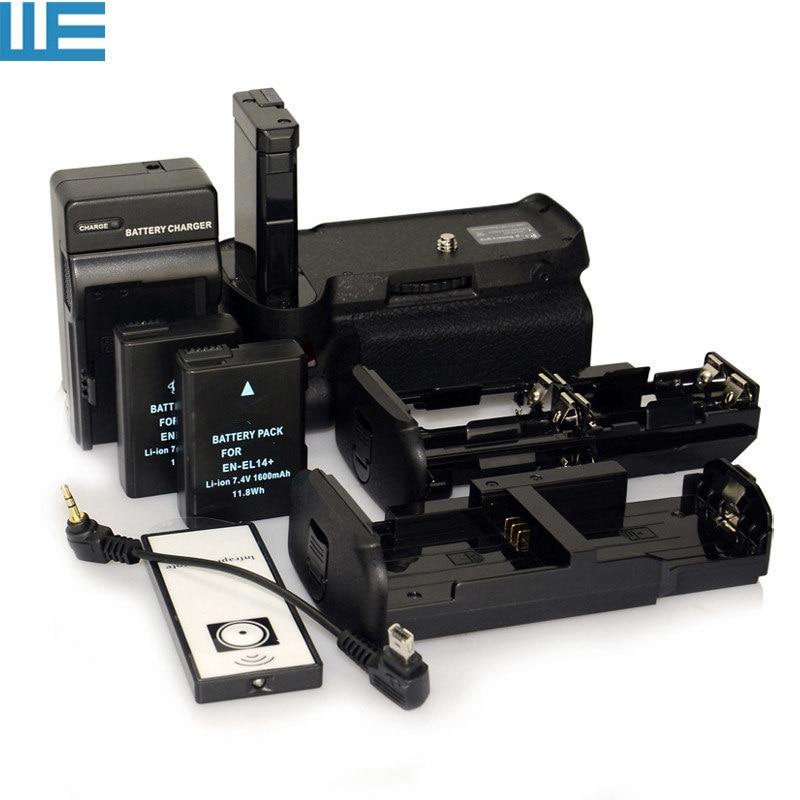 bilder für D3100 D3200 D3300 D5300 Batteriegriff + Ir-fernbedienung + 6 AA Batterie Solt + 2x EN-EL14 Battery + ladegerät für Nikon MB-D31/32
