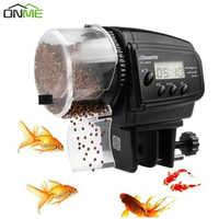 Onme LCD Electronic Automatic Fish Feeder Dispenser Timer Automatic Tank Food Feeding Machine Aquarium Auto Fish Feeder Timer