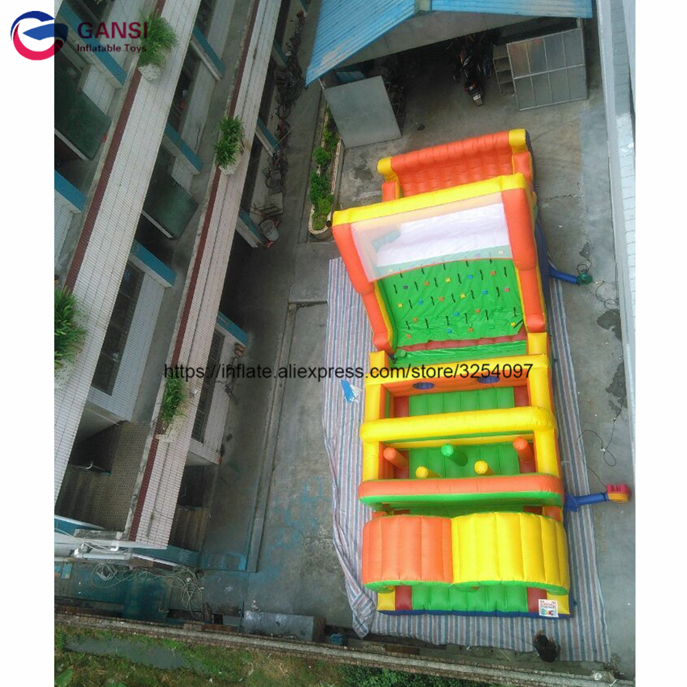 Hot sale entertainment game inflatable water obstacle course for sale bouncer castle with slide obstacle course inflatable inflatable water slide with pool air inflatated water slide pool for sale