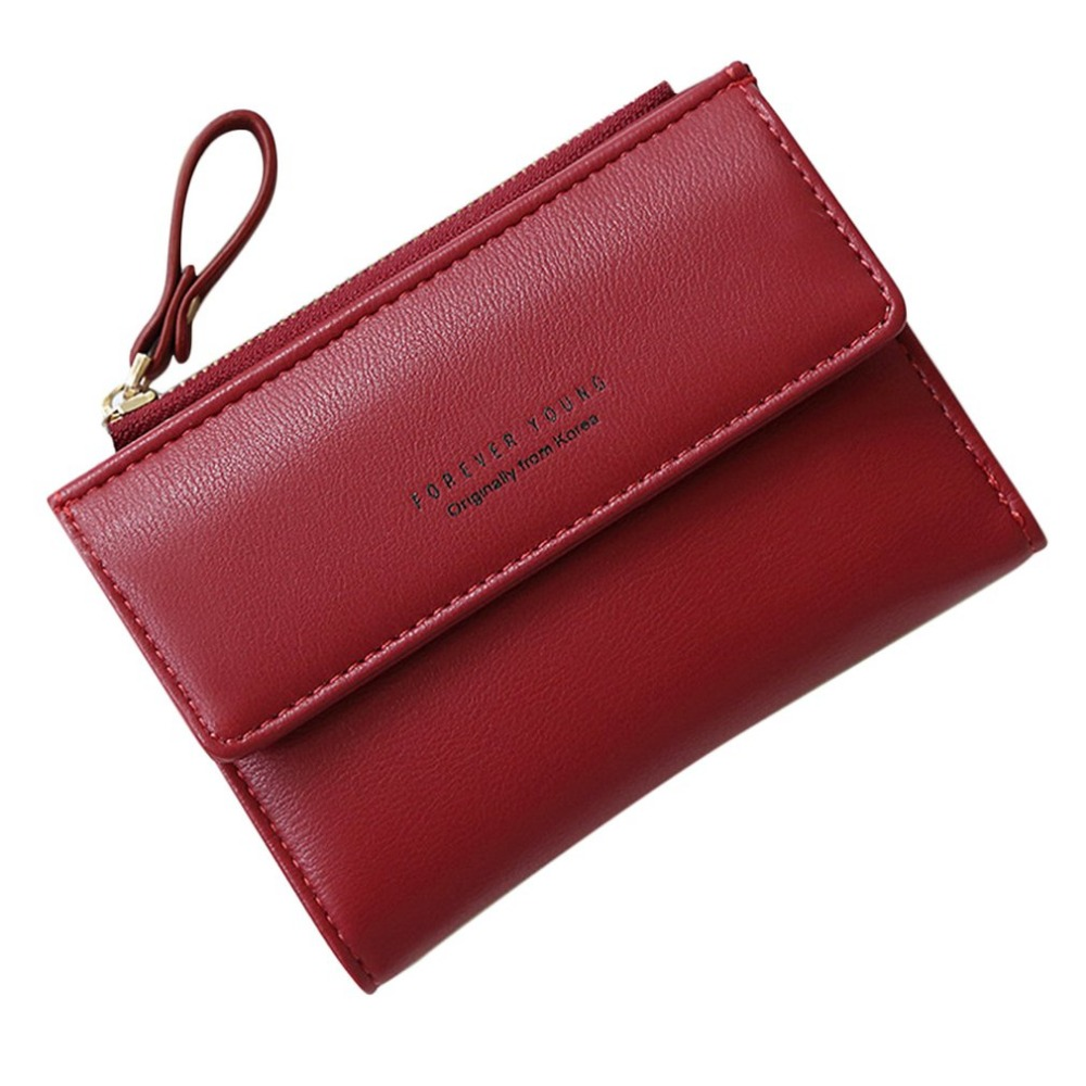 RFID Tassel Pendant Design Small Clutch Wallets For Women Coin Purses Card Holders PU Leather Bag For Female Lady