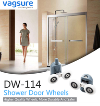 4pcs-8pcs/set 23mm/25mm Aluminum Alloy Double Pop Up Wheels Sliding Shower Door Rollers Runners Pulleys Cabin Room Hardware 8pcs set stainless steel shower door rollers runners wheels pulleys 25mm x 5mm top bottom screw cover caps supplied