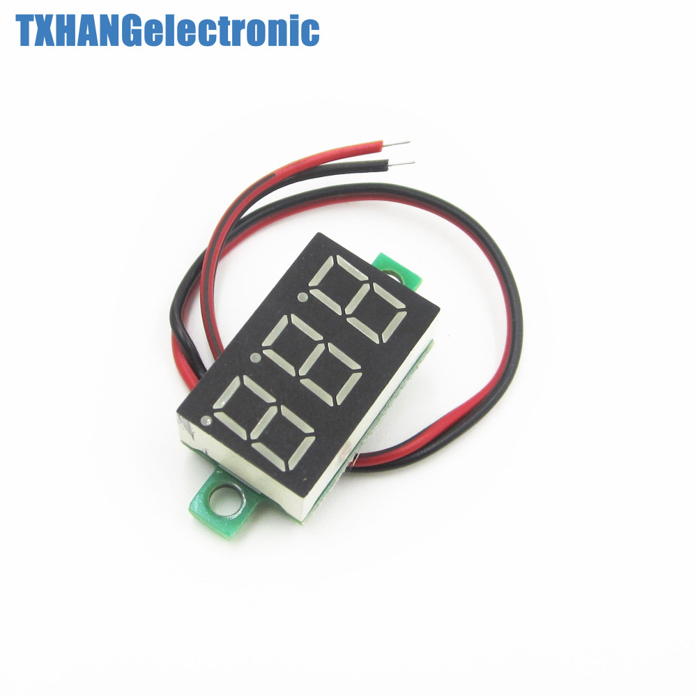 1pcs Two Wire 036 Blue Led Dc Digital Voltmeter Topic How To Cherry Microswitch Arcade Button For Read Panel Meter 0 32v