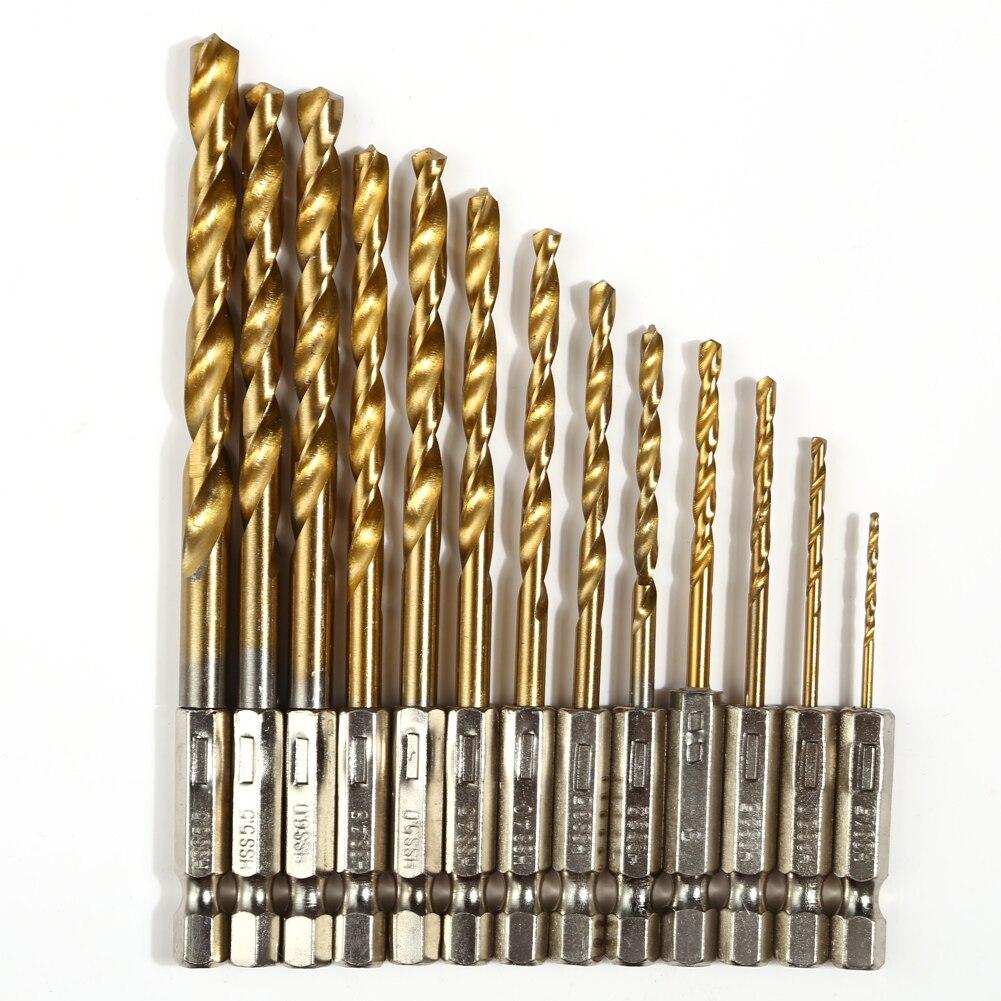 13 Stks/set Power Tools Boren Staal Hex Schacht Quick Change Kobalt Boor Set Multi Bits 1.5-6.5mm Verzinkboor