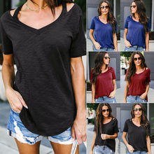7974dc27de1128 Women Summer Short Sleeve Blouse Tops Ladies Floral Loose T Shirt Casual  Tee Top Clothing(