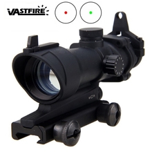 1X32 Optical Riflescope Rifle Airsoft Sniper Scope Real Fiber Dovetail Reflex Optics Red Green Scope Tactical Sight Illuminated carl zeiss 6 24x50 tactical optical riflescope long eye relief rifle scope airsoft sniper rifle optics hunting scope