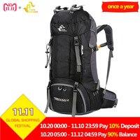 Free Knight 60L Waterproof Outdoor Sport Backpack Camping Hiking Bag Women Men Climbing Mountain Travel Rucksack with Rain Cover